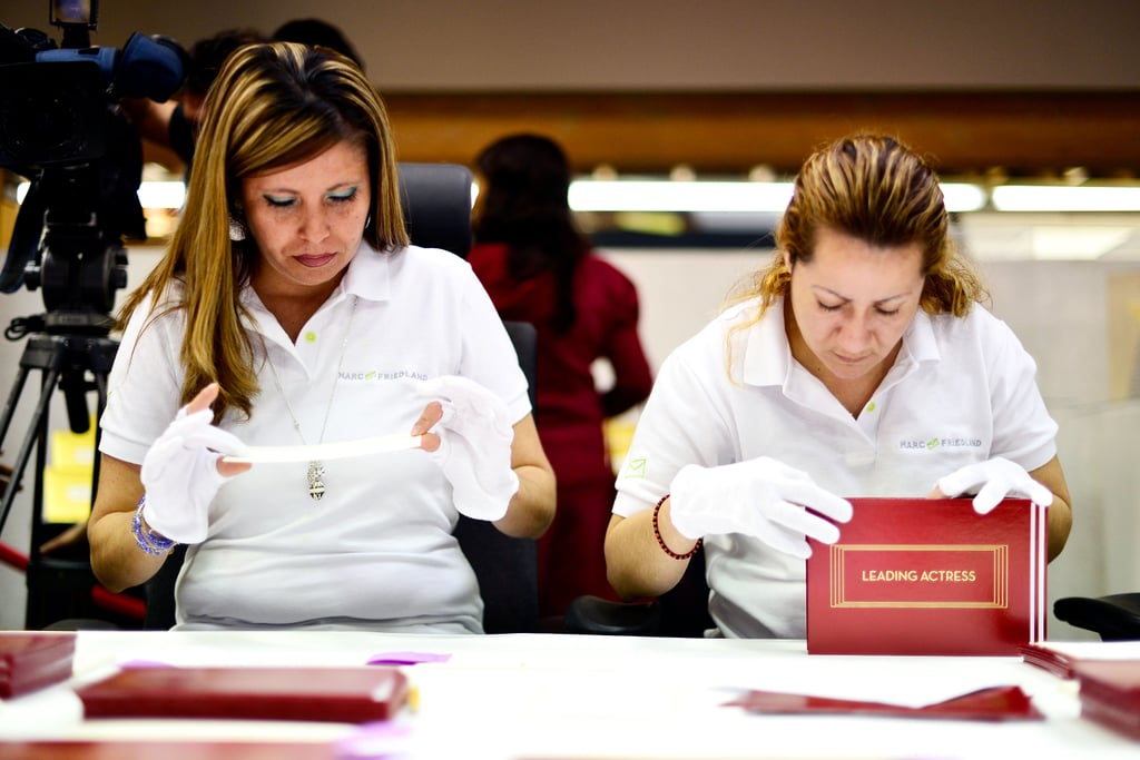 Workers prepared the winners envelopes on Wednesday!
