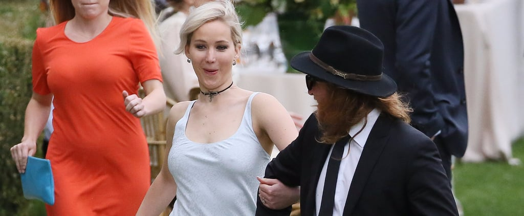 Jennifer Lawrence Looks Completely Giddy at Her Best Friend's Wedding in Italy