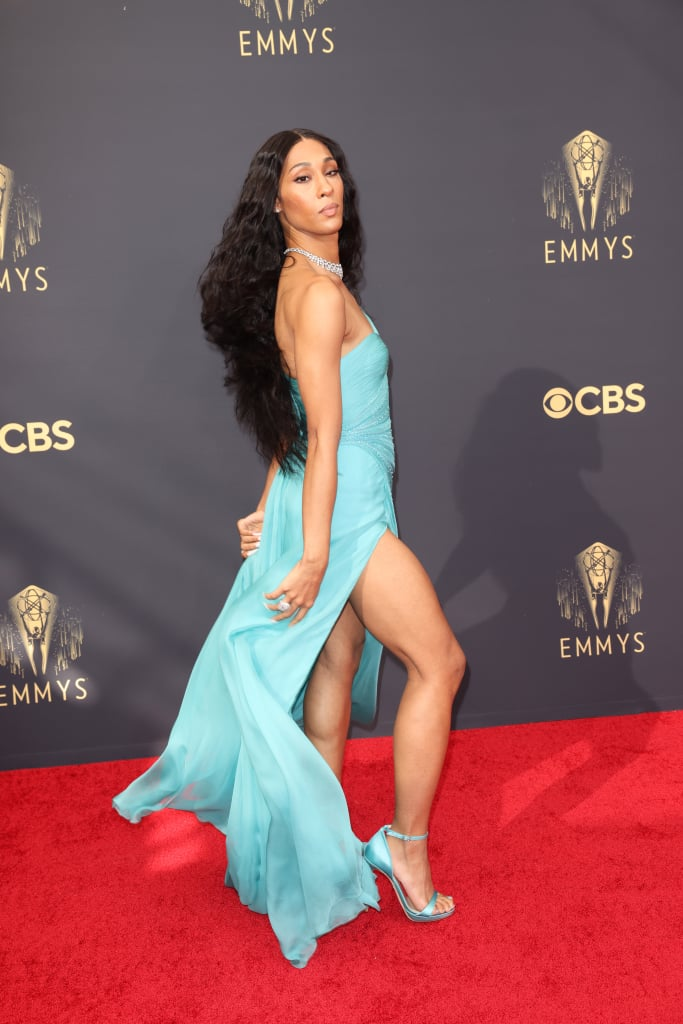 """All eyes were likely on the cast of Pose when they arrived at the Emmys on Sunday night. Billy Porter and Mj Rodriguez were among the first to hit the red carpet, turning it into their own personal catwalk as they showed off their fabulous looks. Billy spread his """"wings"""" in a glamorous black ensemble, while Mj was a vision in a gorgeous teal gown.  Pose scored a nomination for outstanding drama series, while Billy was up for lead actor in a drama series for his role as Pray Tell. Mj was also nominated for lead actress in a drama series for her portrayal of Blanca Evangelista, becoming the first transgender woman to be recognized in a lead acting category at the Emmys. See more of Mj and Billy's Emmys night ahead.      Related:                                                                                                           Mj Rodriguez Celebrates Historic Emmy Nod Ahead of Ceremony: """"I Am Testimony That It Is Possible"""""""