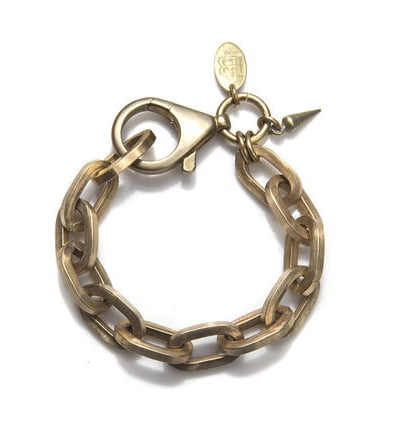 How cool will this Bing Bang Boyfriend Chain Bracelet ($75) look stacked against your bangles and friendship bracelets?
