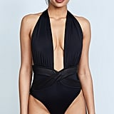 Oye Swimwear Roman Plunge Neck One-Piece