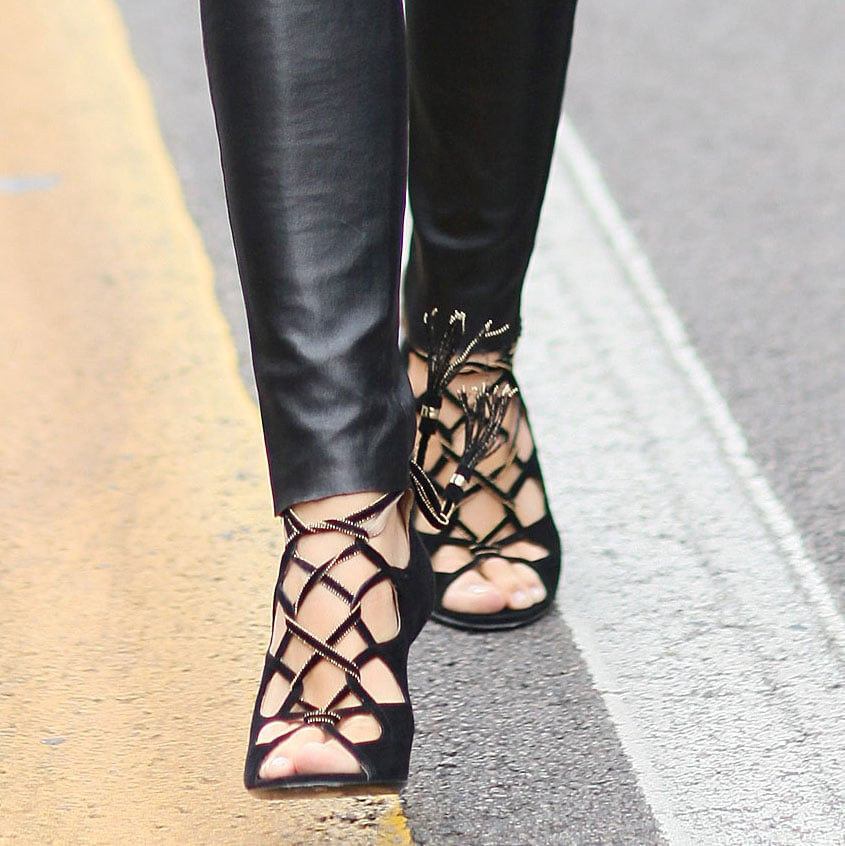 Cage heels were meant for showing off — and Fashion Week was the prime time. Source: Greg Kessler