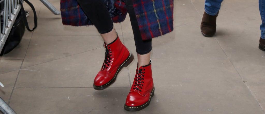 Gigi Hadid Shoes at Fashion Week Spring 2018