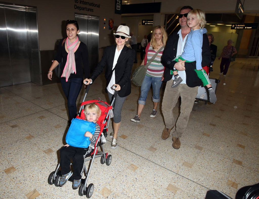 Naomi Watts and Liev Schreiber had Sasha and Samuel in tow in Sydney.
