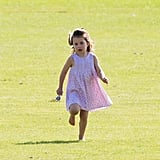 Princess Charlotte Having Fun at Polo Match June 2018