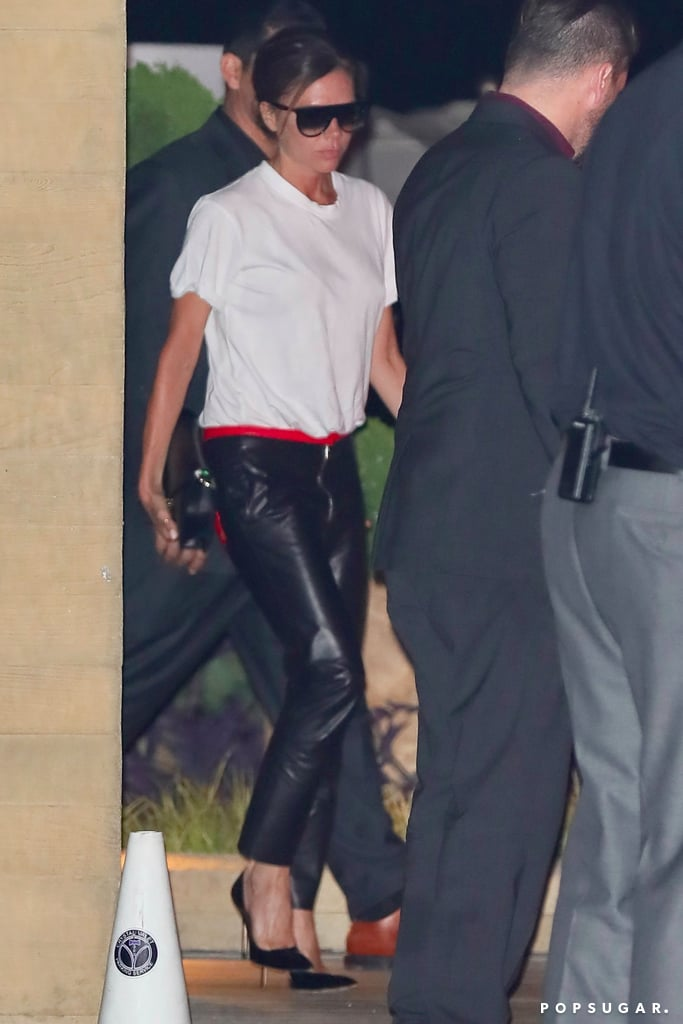 Victoria Beckham Wearing Pants With Initials