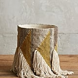 Anthropologie Fringed Triangle Basket