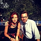Juliette Lewis shared a pic of her on the set of August: Osage County with costar Ewan McGregor. Source: Instagram user juliettelewis