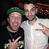 Jay Baruchel partied with comedian Nick Swardson at the premiere of This Is the End in LA. Source: Twitter user NickSwardson