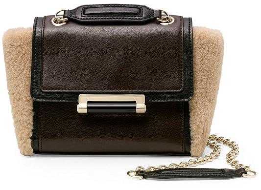 DVF Mini Shearling Crossbody Bag