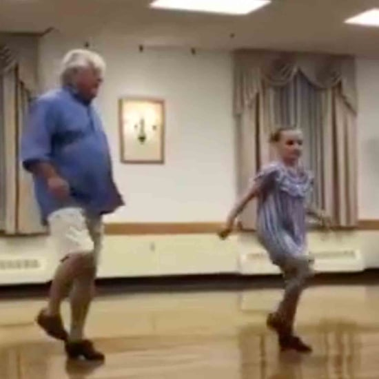 Grandpa Tap Dancing With His Granddaughter