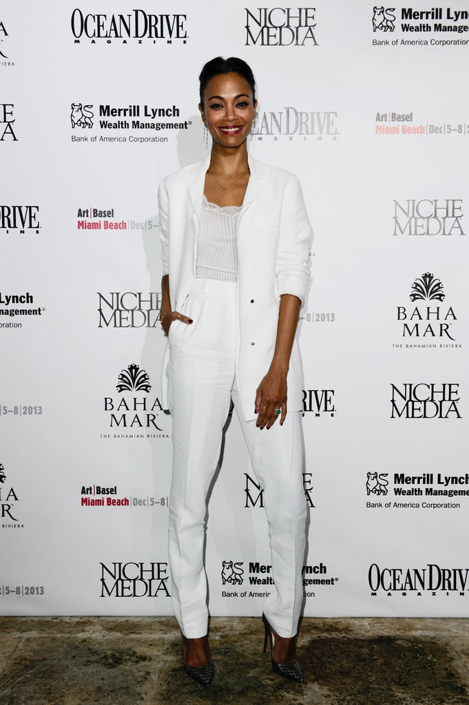 Zoe Saldana hosted the Niche Media Party on Friday.