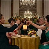 The 2 Couples Share a Toast