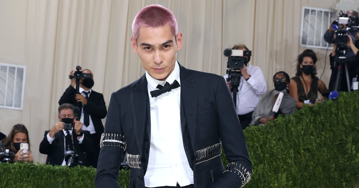 Evan Mock Brought Back His Iconic Pink Hair for the Met Gala and We're Not Worthy.jpg