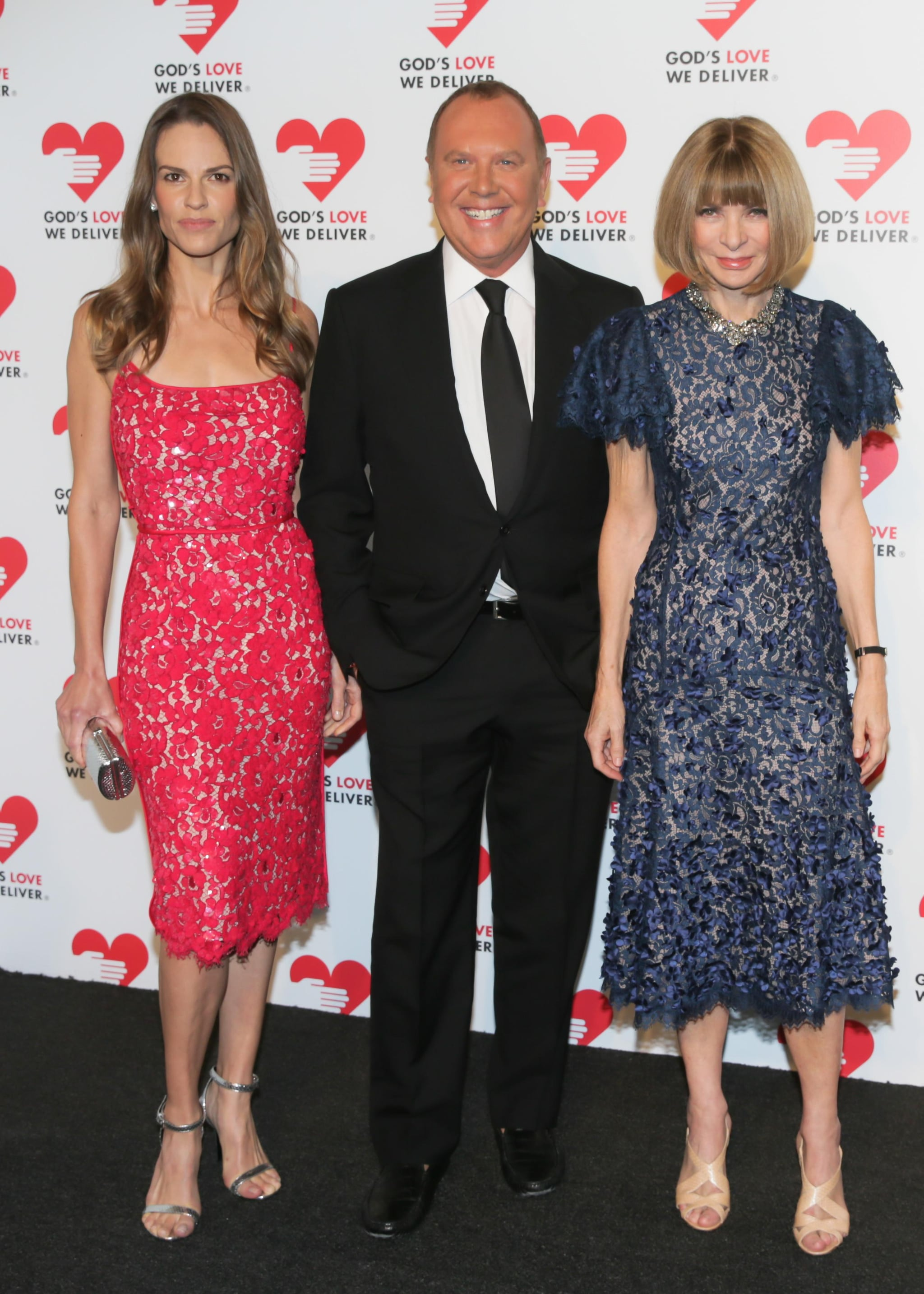 Anna Wintour and Hilary Swank joined Michael Kors in his lace designs at the God's Love We Deliver 2013 Golden Heart Awards Celebration.