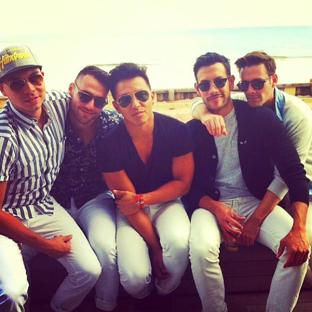 """Prabal Gurung and his friends stayed chic in white jeans — the designer captioned this snap, """"we got the memo."""" Source: Instagram user prabalgurung"""