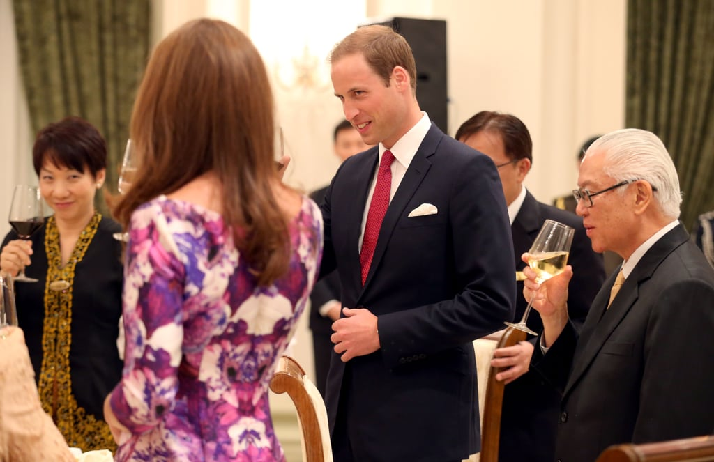 Kate Middleton and Prince William stood next to each other.