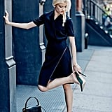 """The Cut featured the Tory in an #OOTD post: """"Outfit inspiration: if you swap your flats for heels a block away from the office, we won't tell if you don't tell."""""""
