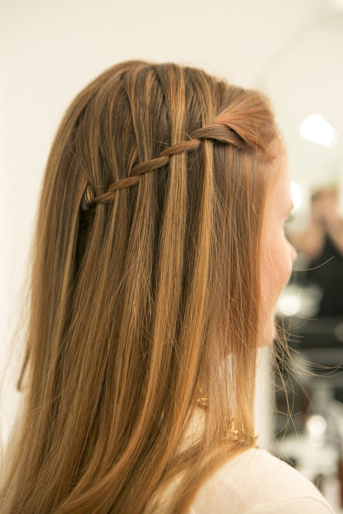 Drop your layers over the pinned-back braid, and admire your pinnable hair! Source: Caroline Voagen Nelson