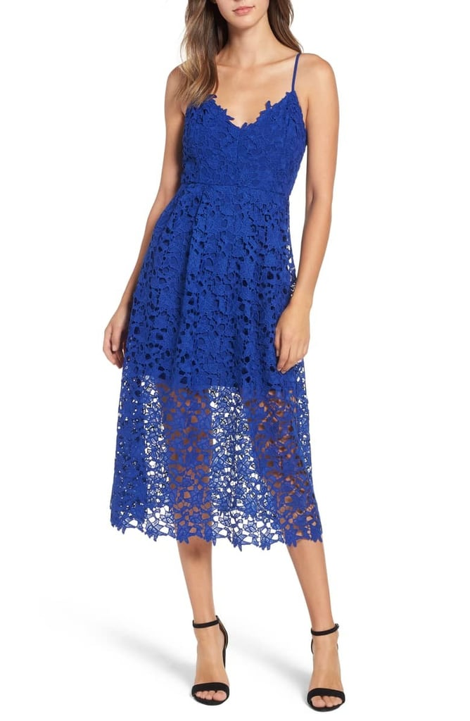 4b81124834a ASTR the Label Lace Midi Dress Review