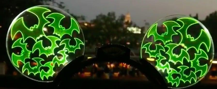 Light-Up Halloween Mickey Ears at Disneyland