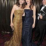Jennifer Garner met up with Jennifer Lawrence backstage at the SAG Awards.