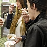 Lindsay and Sam Grab Yogurt