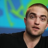 Robert Pattinson went to a Bel Ami press conference.