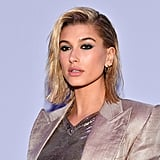 Hailey Baldwin's Glittery Eye Shadow in February 2018