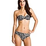 Opt out of the string bikini set in favor of a structured bandeau top and matching bikini bottoms.