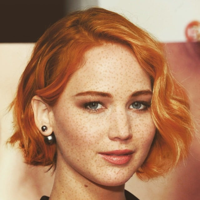 jennifer lawrence celebrities as redheads instagram