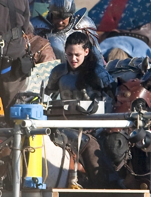 Kristen looked confident riding on the back of her white horse.