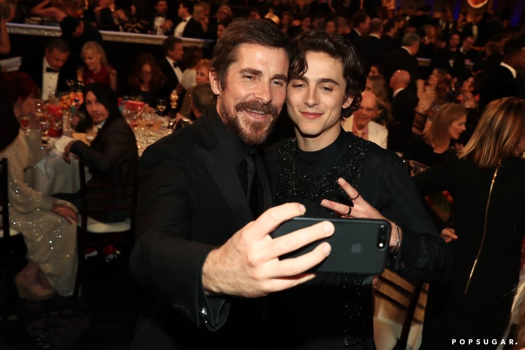 Pictured: Christian Bale and Timothe Chalamet