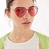 Urban Outfitters Metal Heart Sunglasses
