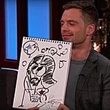 Sebastian Stan's Drawing of Bucky Barnes