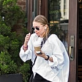 Ashley Olsen White Oversize Shirt
