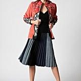 Haute Rogue Midi Multi Pleated Skirt