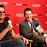 Director Pawel Pawlikowski and Ethan Hawke laugh together during the festival.