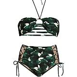 Adriana Degreas Ginkgo-Print Bandeau Bikini ($220)