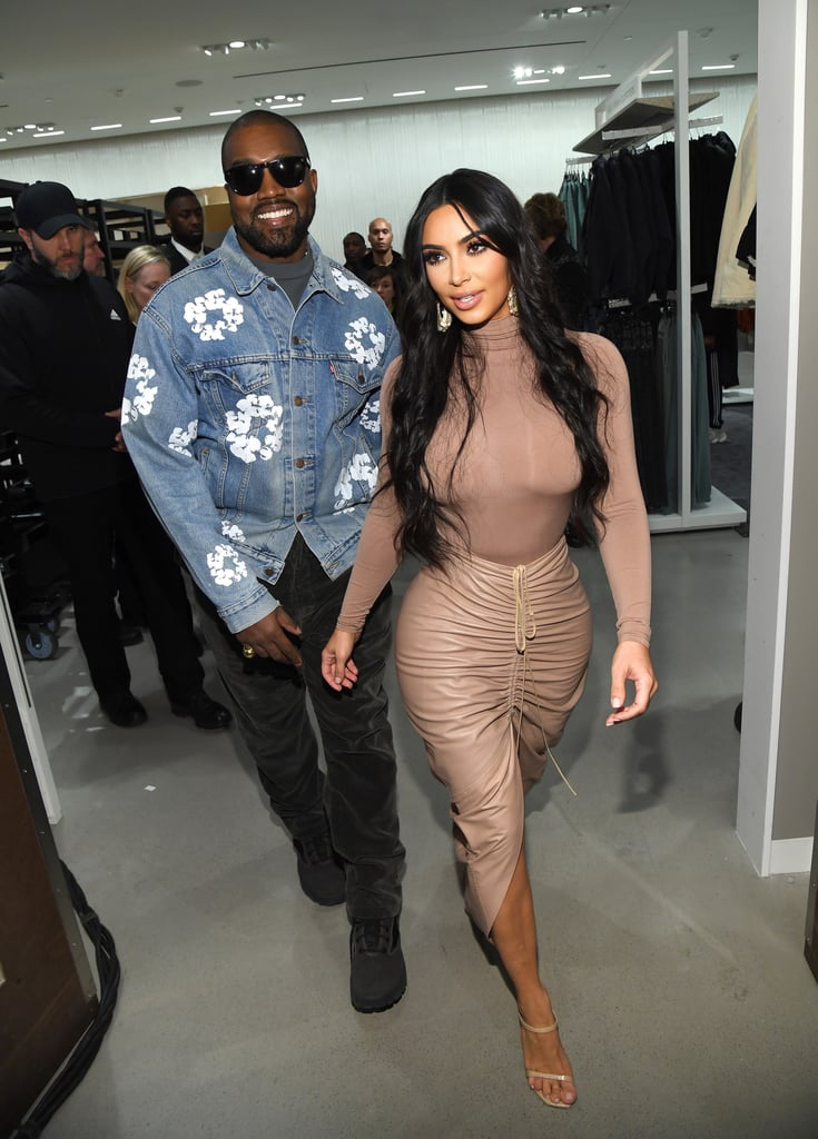 Kim Kardashian and Kanye West in New York