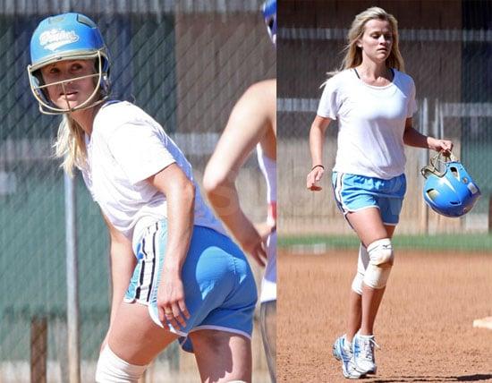 Reese Playing Softball