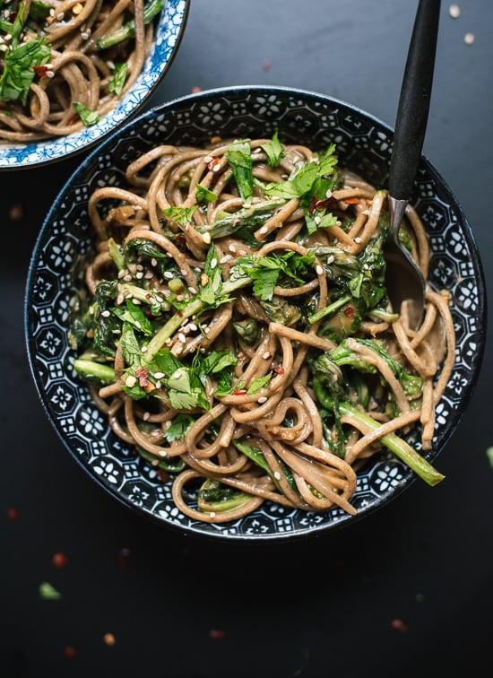 Broccoli Rabe Peanut Soba Noodles