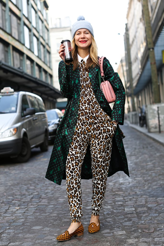 Natalie Joos pulled off high-impact print on print with ease.