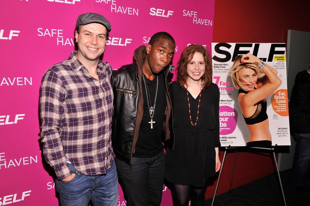 Taran Killam — whose wife, Cobie Smulders, stars in the film — posed with his fellow SNL cast members Jay Pharoah and Vanessa Bayer.
