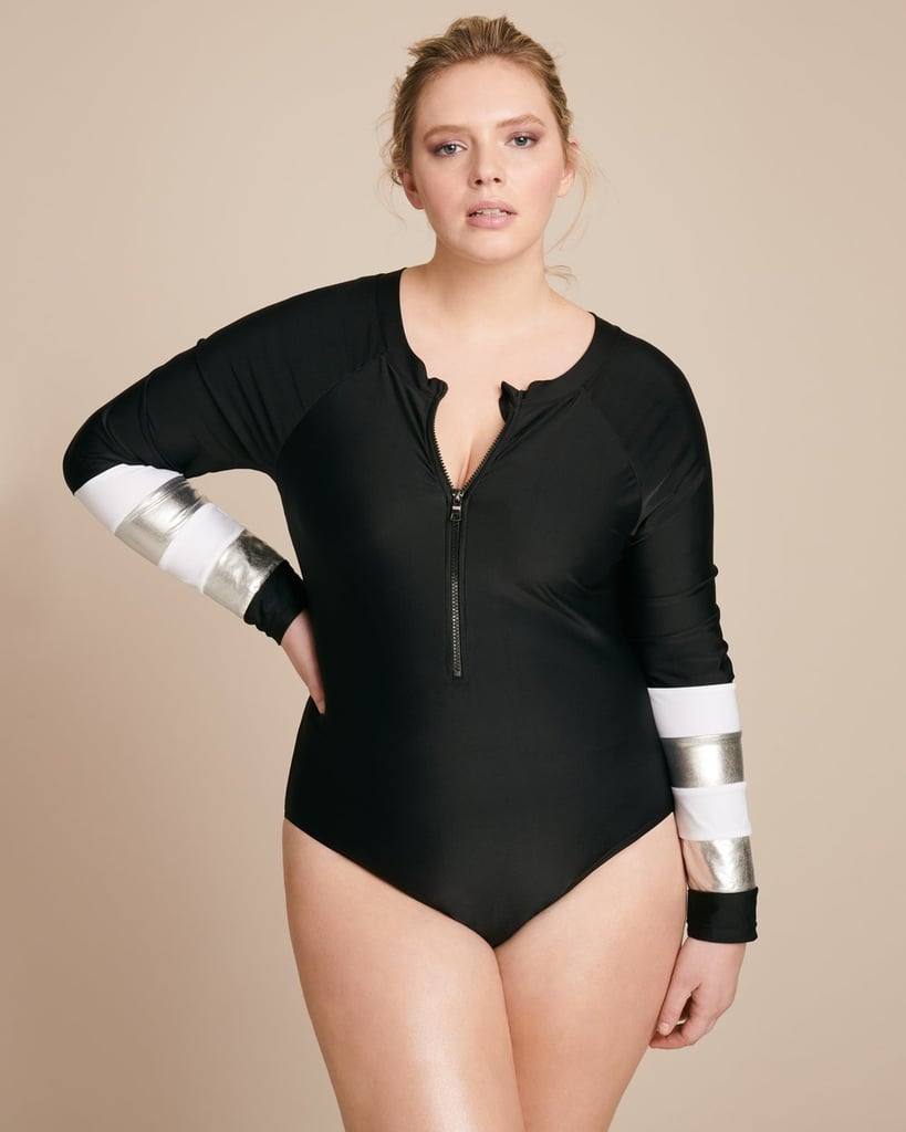 Our Pick: Cynthia Rowley Black Surf Suit With Metallic Cuffs