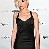 Amber Heard attended the Metropolitan Opera gala in NYC.