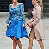 Together, the sisters made two of the most memorable (hat) entrances at the royal wedding in April 2011.