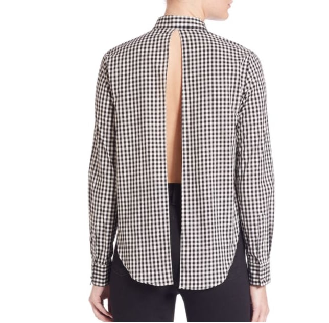 Kendall + Kylie Gingham Open-Back Shirt ($36)