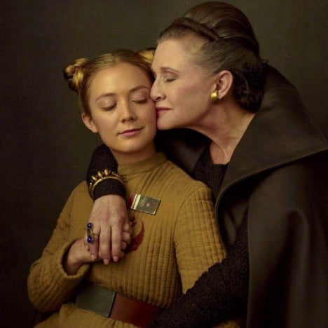 Carrie Fisher and Billie Lourd Vanity Fair Star Wars Photo