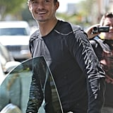 Orlando Bloom was all smiles in LA on Wednesday.